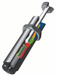 Immagine Tecnica dei Deceleratori in Miniatura serie SC25-SC650 ad alta capacità per ciclo